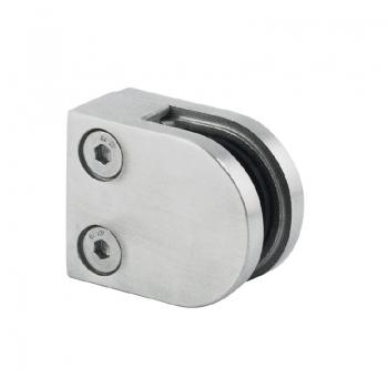 Uchwyt szkła 40x50 mm dla profilu (AISI 316) - szlifowane