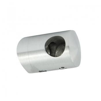Uchwyt przelotowy boczny prawy  dla pręta Ø 12 / 42.4 mm szlifowany
