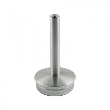 Podpora poręczy do spawania wbijana w słupek Ø 33,7 mm - stała, szlifowana