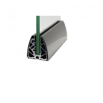 Profil aluminiowy AKOS TYP A do szkła 16,76-20,76 mm z maskownicami, komplet - cena za 1 mb
