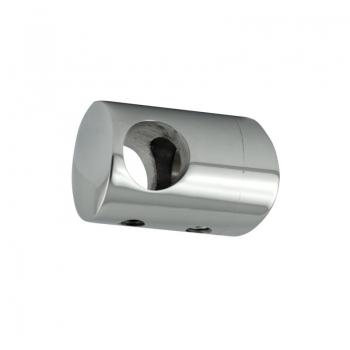 Uchwyt przelotowy słupka 50,8 mm dla rurki 12 mm - polerowany