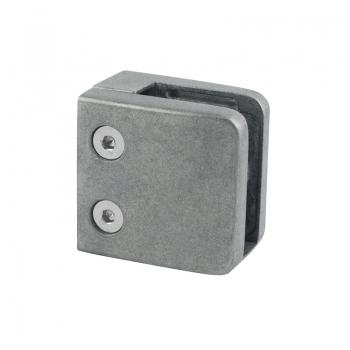 Uchwyt do szkła 55x55 mm dla profilu z blaszką zabezpieczającą ZAMAK - surowy