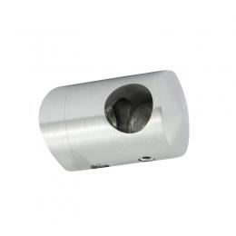 Uchwyt przelotowy słupka 48,3 mm dla rurki 12 mm prawy - szlifowany