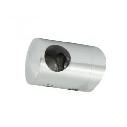 Uchwyt przelotowy słupka 48,3 mm dla rurki 12 mm  lewy - szlifowany