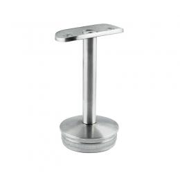 Podpora poręczy Ø 33,7 mm skręcana  wbijana,  w słupek Ø 48,3mm - stała, szlifowana