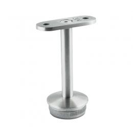 Podpora poręczy skręcana pod poręcz płaską mm wbijana w słupek Ø 33,7 mm - stała, szlifowana