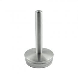 Podpora poręczy do spawania wbijana w słupek Ø 48,3 mm - stała, szlifowana