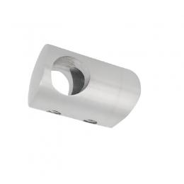 Uchwyt przelotowy słupka 48,3 mm dla rurki 10 mm - szlifowany