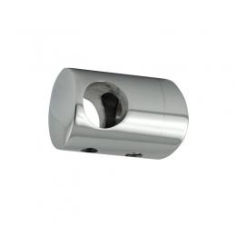 Uchwyt przelotowy słupka 48,3 mm dla rurki 16 mm - polerowany