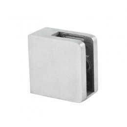 Uchwyt szkła 45x45 mm dla profilu + blaszka zabezpieczająca - polerowany
