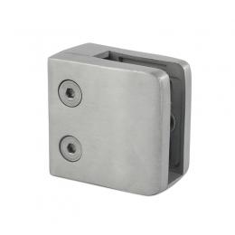 Uchwyt do szkła 52x52 mm dla profilu z blaszką zabezpieczającą - szlifowany