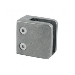 Uchwyt szkła 52x52 mm dla profilu + blaszka zabezpieczająca - surowy