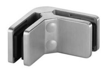 Uchwyt narożny 45x72mm, AISI 304, SZLIF