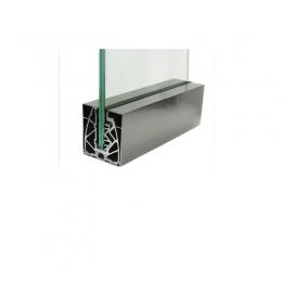 Profil aluminiowy AKOS TYB B do szkła 16,76-20,76 mm z maskownicami, komplet - cena za 1 mb