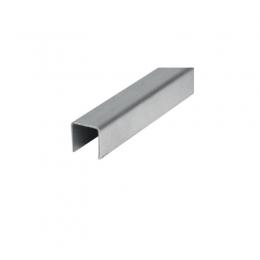 Ceownik nakładany na szkło 17,52 mm, AISI 304, SZLIF