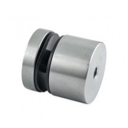 Uchwyt punktowy szkła od 8-16 mm , Ø 50 mm x 30 mm , dla profilu tulejka otwór przelotowy