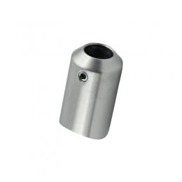 Uchwyt czołowy pręta Ø12 mm, montowany w słupku Ø42,4 mm